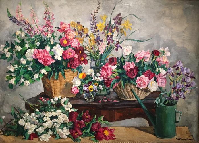 Натюрморт с цветами и лейкой. 1939 год. Автор: П. П. Кончаловский.