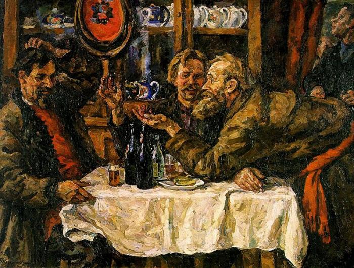 Новгородцы.1925 год.  Автор: П. П. Кончаловский.