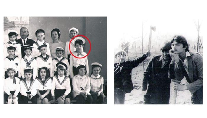 1970 год. Второй класс. Женя - октябренок. / На субботнике. Дятлову - 15 лет.