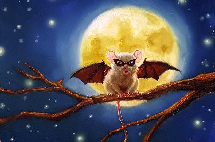 Белая летучая мышь. Автор: Lucia Heffernan.
