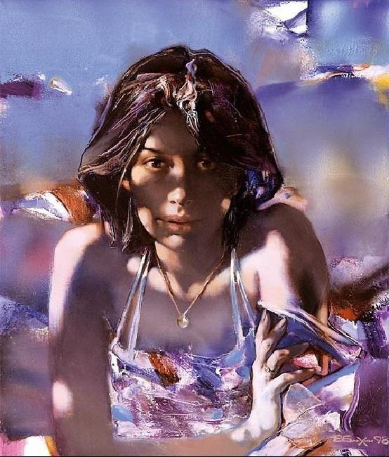 Портрет восточной женщины. Из цикла «Шелковый путь». Автор: Валерий Блохин.