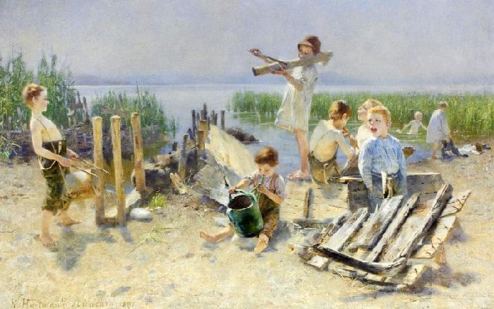 Карл Хартманн (1861-1927). Германия. Концерт на свежем воздухе.
