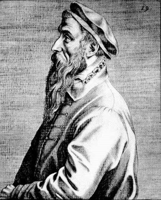 Портрет Брейгеля работы Доминика Лампсония, 1572 год