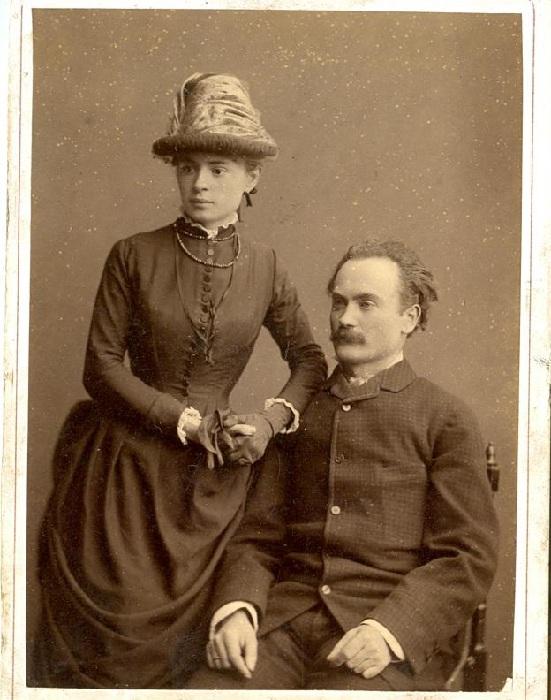 Иван Франко и его жена Ольга Хоружинская-Франко.