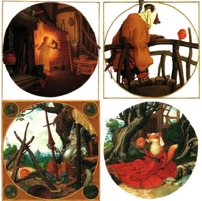 Иллюстрации к сказке «Колобок».