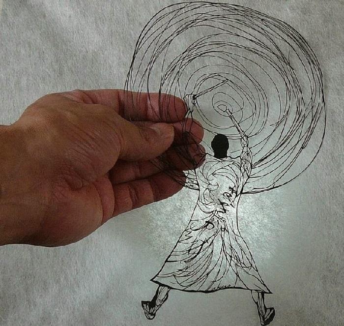 Киригами от Akira Nagaya.