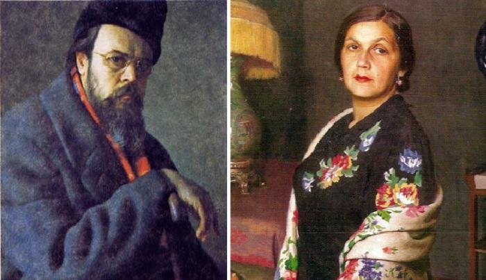 Автопортрет./ Портрет О.Н. Лактионовой, жены художника. Автор: Александр Лактионов.
