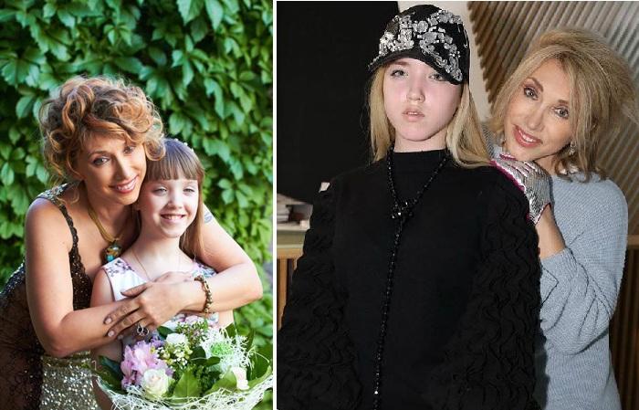 Елена Воробей с дочерью Софией.