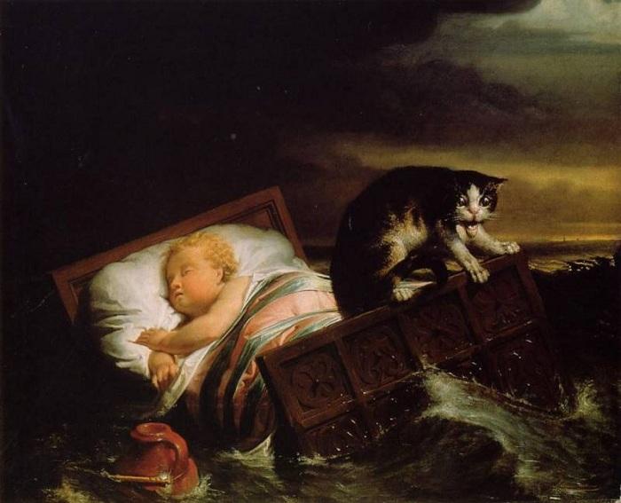 «Наводнение в Бисбосе в 1421 году».(1856г.). Автор: Лоуренс Альма –Тадема.
