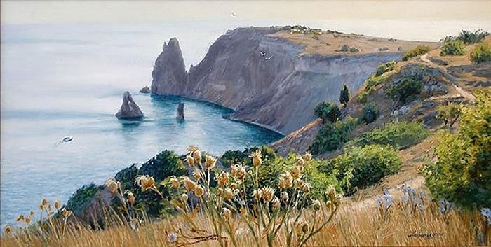 Крымский пейзаж. Море. Автор: А. Амбурский.