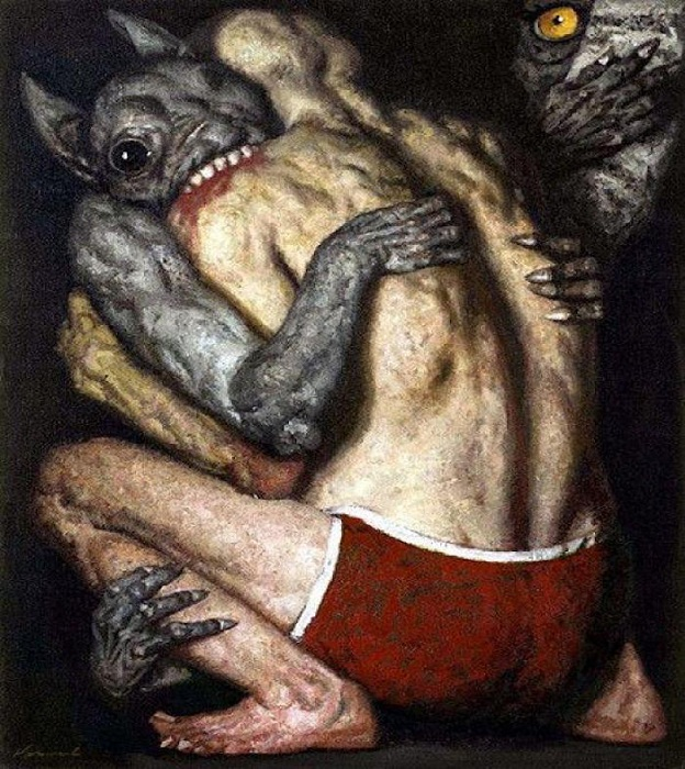 Схватка.(1987 год). Автор: Гелий Коржев.