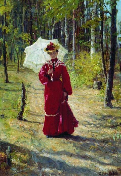 Портрет жены. Автор: Федот Сычков.