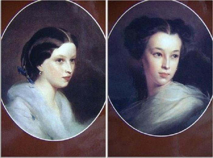 Мария и Наталья Пушкины - дочери русского поэта.