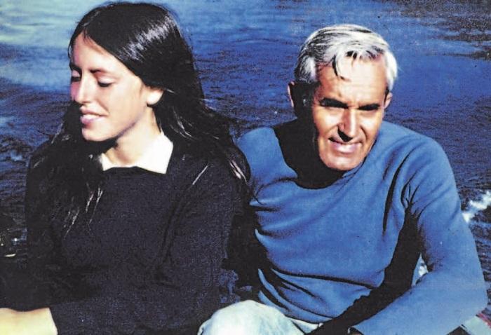 Мишель с отцом  Альберто Бачелетом.
