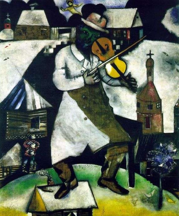 «Скрипач» (1912г.) Художник Марк Шагал.