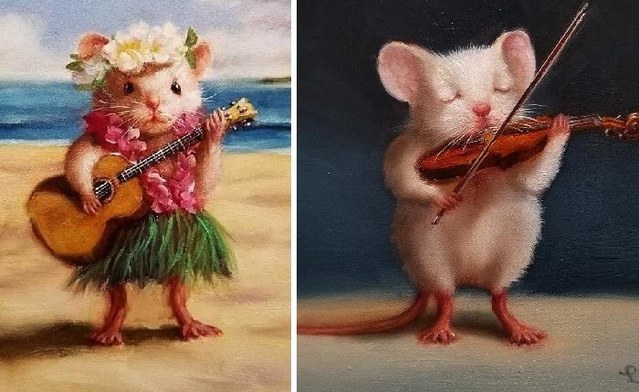Маленькие музыканты. Автор: Lucia Heffernan.