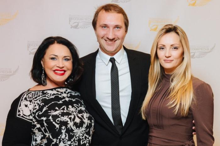 Надежда Бабкина с сыном и невесткой.