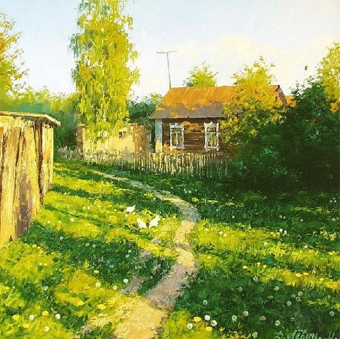 Весна в деревне. Май. Автор: Дмитрий Левин.