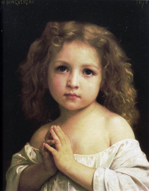 «Молитва». Автор: William Bouguereau.