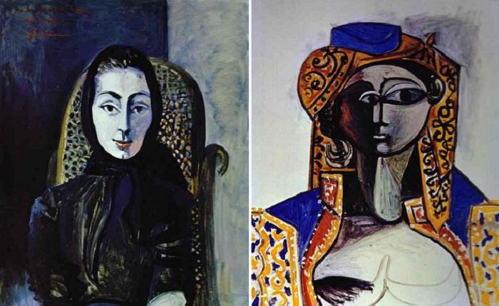 Портреты Жаклин Рок. (1954-г.г).