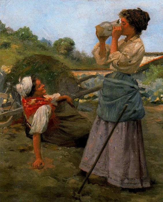 «Отдыхающие жницы». (1905 год). Автор: Сальвадор Диас Игнасио Руис де Олано.