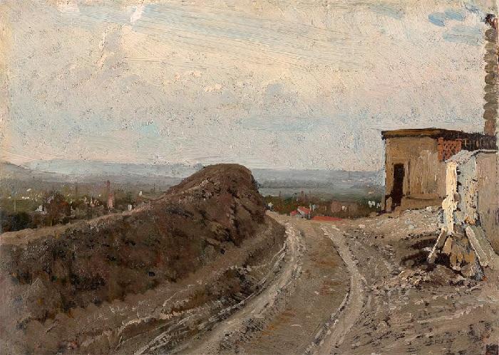 Дорога на Монмартр в Париже.(1875–1876гг.) Автор: Илья Репин.