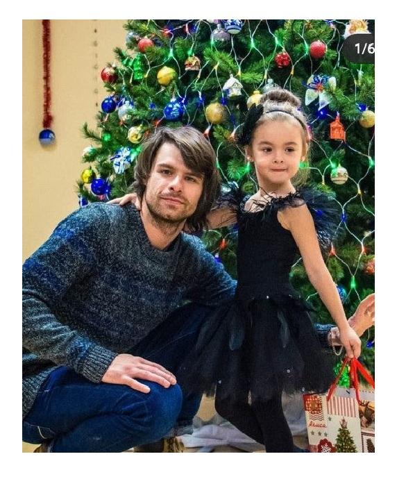 Сын Егор с дочерью.