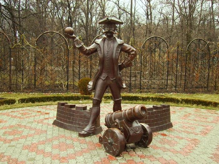 Памятник барону Мюнхгаузену. (Украина, Кременчуг)