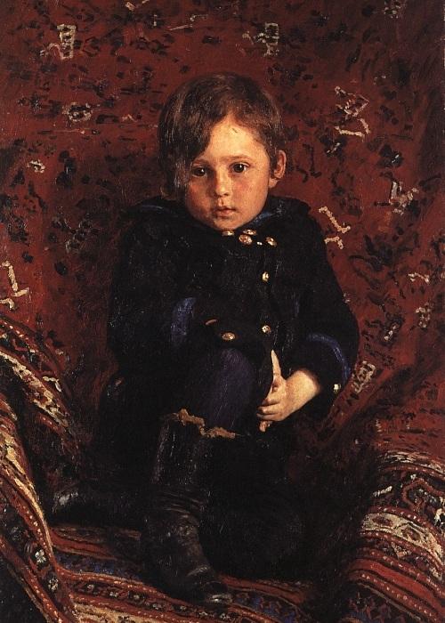 Портрет сына художника, Юрия. Автор: Илья Репин.