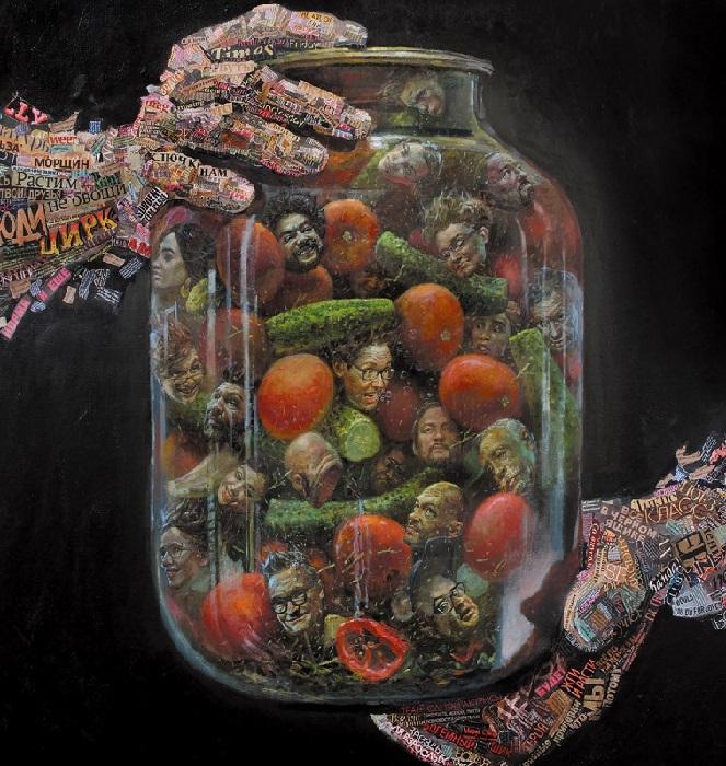 «Закруточки». Картина в стиле APP.ART от Андрея Шатилова.