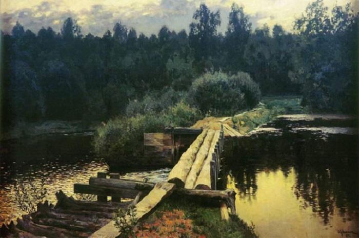 У омута. (1892). Автор: Исаак Левитан.
