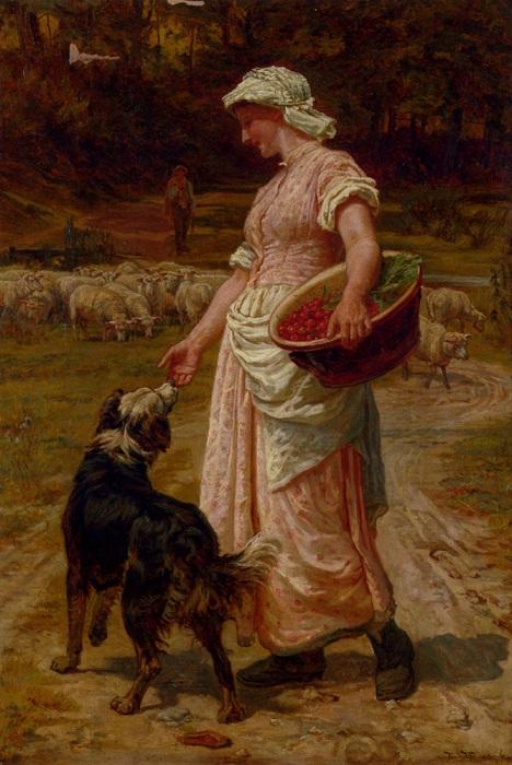 Верный пастух. Автор: Фредерик Морган.