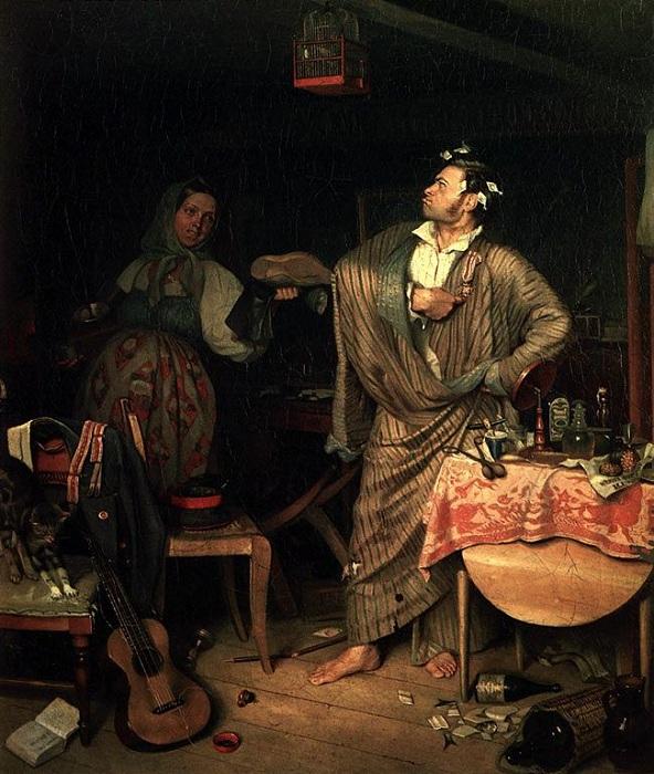 «Свежий кавалер». Автор: П. Федотов.