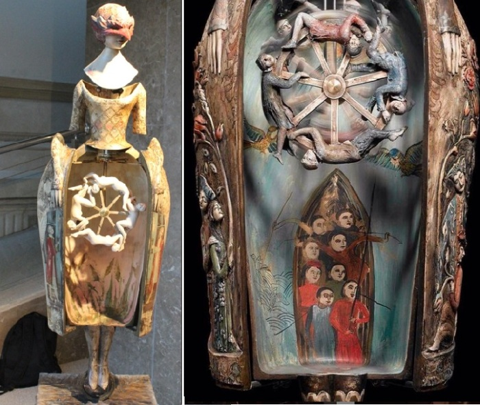 Куклы от Тамары Квеситадзе. Фрагмент механизма внутри юбки куклы.