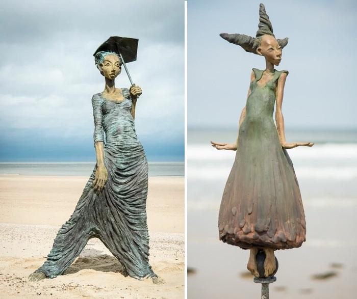 С юмором и фантазией к образу женщины. Скульптор: Dirk De Keyzer.