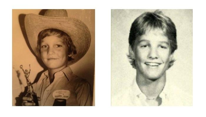 Мэттью Макконахи в детские годы.