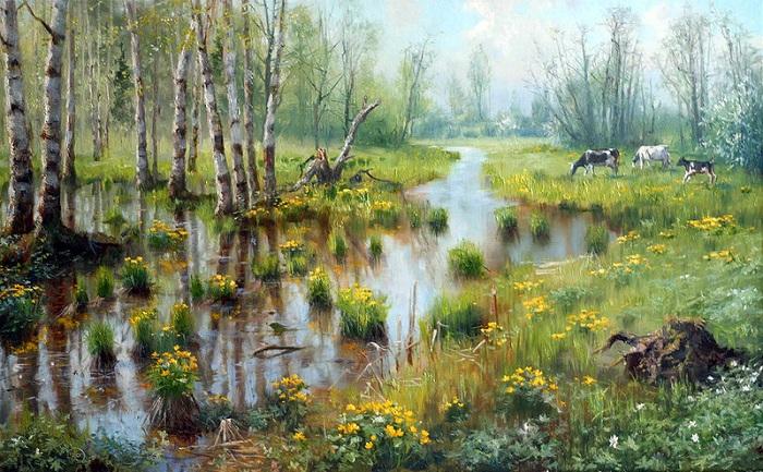 «Времена года. Весна. Апрель». Автор: Владимир Жданов.