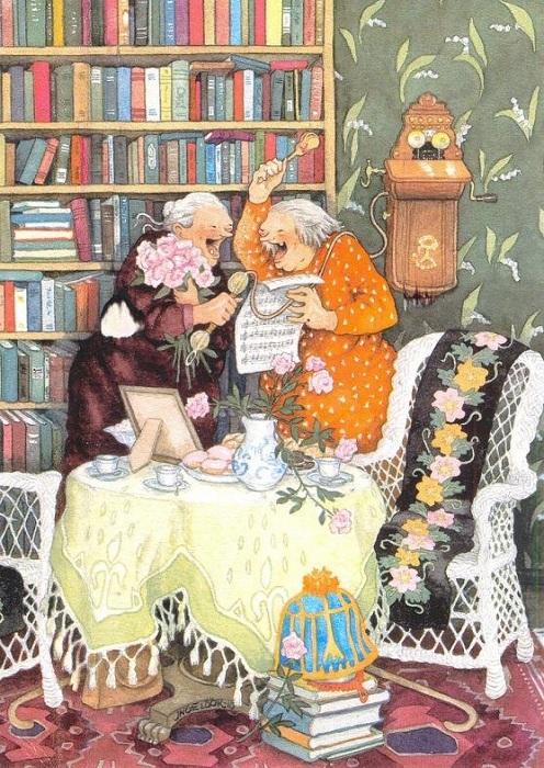 «Позитив-бабульки» от Инге Лоок.
