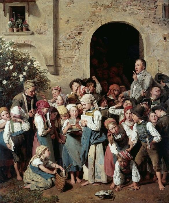 «После школы». Автор: Фердинанд Георг Вальдмюллер.