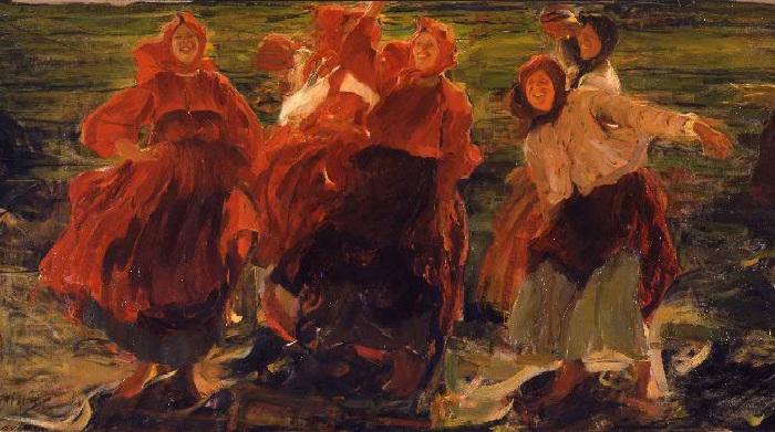 Смех.(1899 год). Автор: Ф.Малявин.