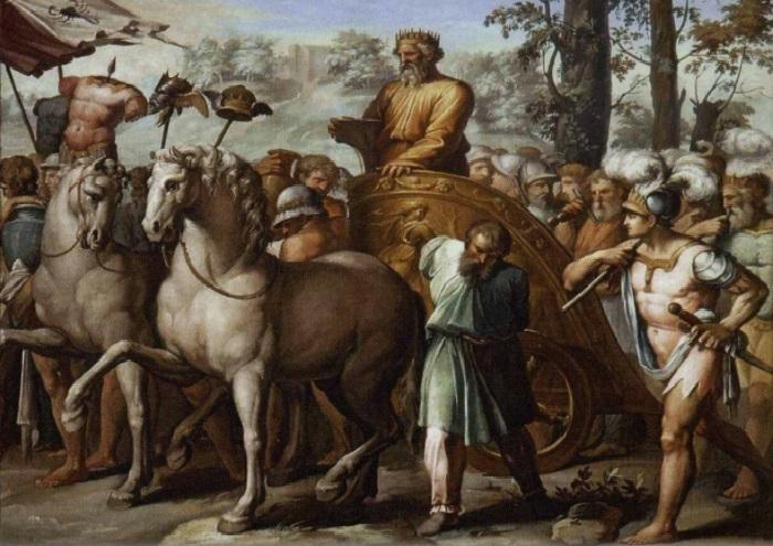 «Истории Давида». Триумф Давида над ассирийцами.