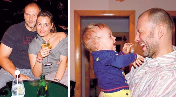 Константин Соловьев с женой и со старшим сыном.