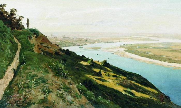 «Вид на Днепр». (1888 год). Художник: Владимир Орловский.