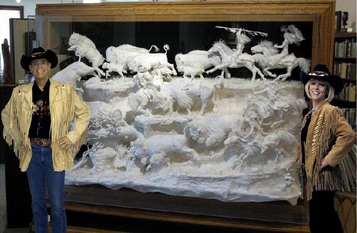 Скульпторы Пэтти и Аллен Экман из Южной Дакоты.