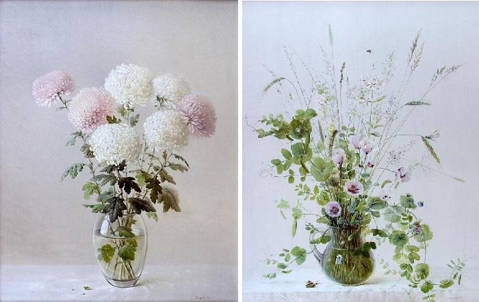 Цветочные натюрморты от Марины Захаровой.