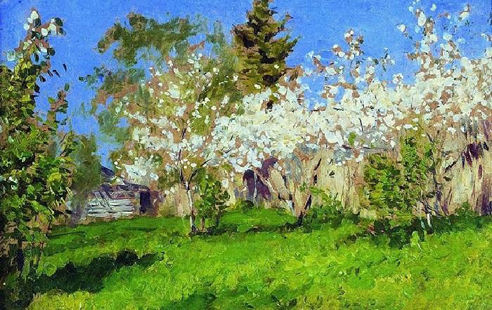 Исаак Левитан. Цветущие яблони. 1896 год.