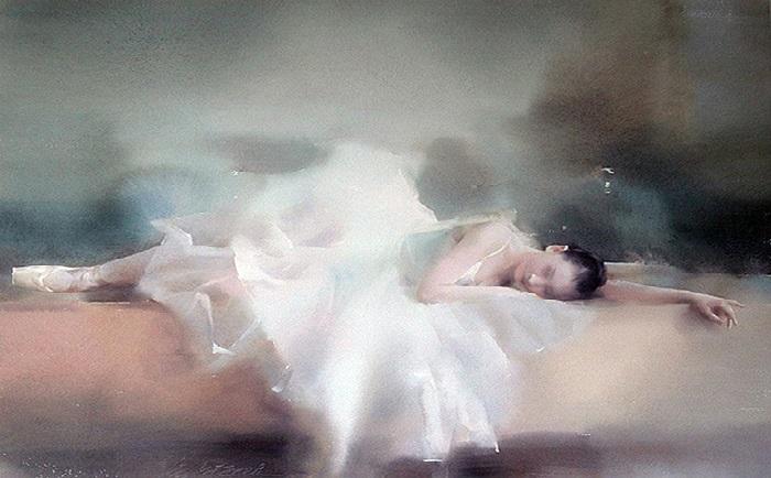 Акварельная живопись от художника Лю Йи. | Фото: gallerix.ru.