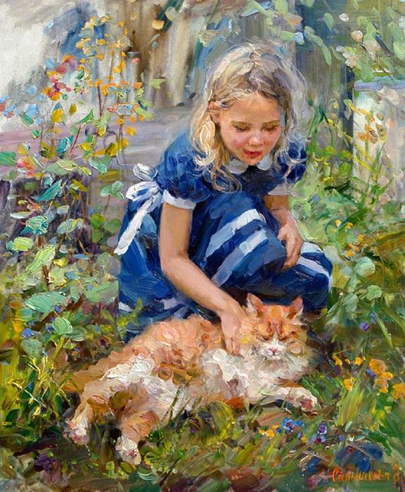 Рыжий кот. Автор: Елена Сальникова.