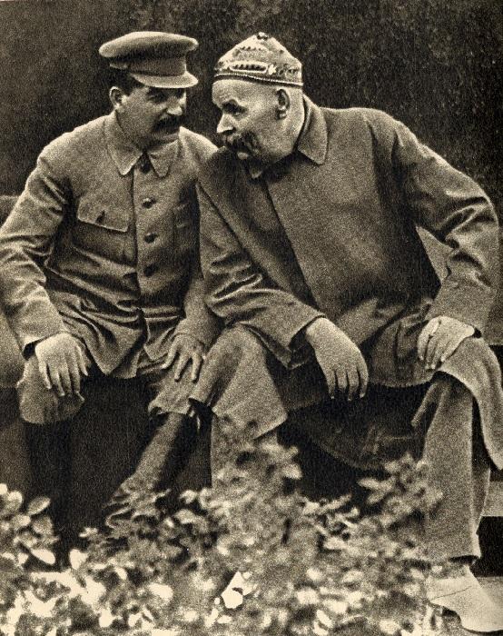 Сталин с Горьким.