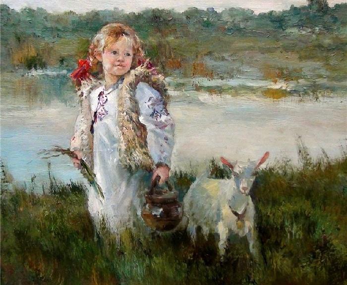 Пастушка. Из цикла «Мир детства» Инессы Морозовой.